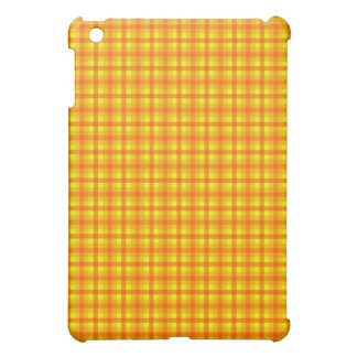 Yellow Orange and Red Retro Chequered Pattern iPad Mini Case