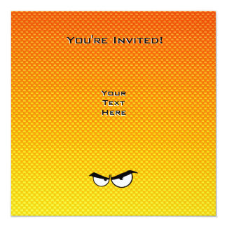 Yellow Orange Angry Eyes 13 Cm X 13 Cm Square Invitation Card