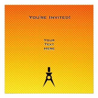 Yellow Orange Architect Personalized Invitations