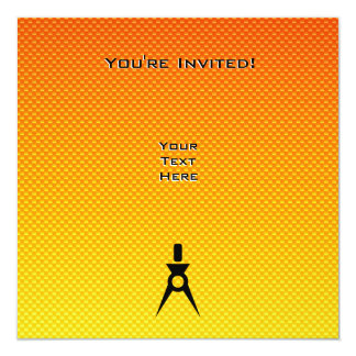 Yellow Orange Architect 13 Cm X 13 Cm Square Invitation Card