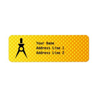 Yellow Orange Architect Return Address Label