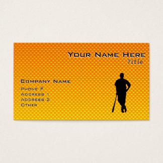 Yellow Orange Baseball Business Card