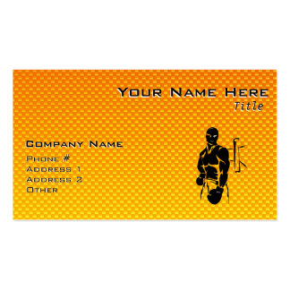Yellow Orange Boxing Pack Of Standard Business Cards