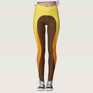 Yellow/Orange/Brown Pattern Leggings