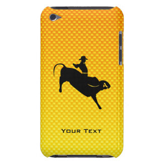 Yellow Orange Bull Riding Barely There iPod Cases