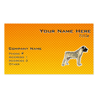 Yellow Orange Bullmastiff Double-Sided Standard Business Cards (Pack Of 100)