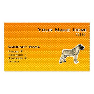 Yellow Orange Bullmastiff Pack Of Standard Business Cards