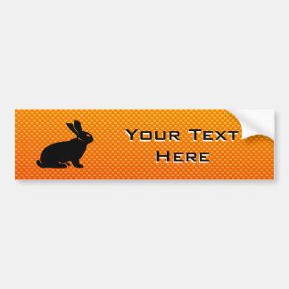 Yellow / Orange Bunny Bumper Sticker