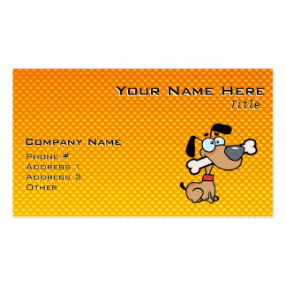 Yellow Orange Cartoon Dog Double-Sided Standard Business Cards (Pack Of 100)