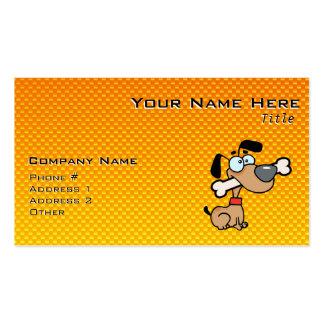 Yellow Orange Cartoon Dog Business Card