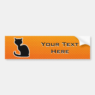 Yellow Orange Cat Bumper Sticker