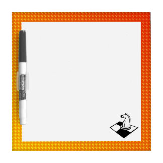 Yellow Orange Chess Dry Erase Board