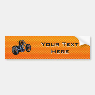 Yellow Orange Chopper Bumper Sticker