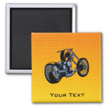 Yellow Orange Chopper Square Magnet