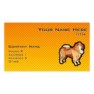 Yellow Orange Chow Chow Double-Sided Standard Business Cards (Pack Of 100)