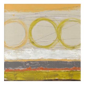 Yellow & Orange Circles on Multicolored Background Acrylic Wall Art