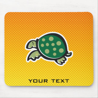 Yellow Orange Cute Turtle Mouse Pad