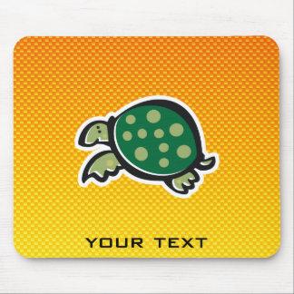 Yellow Orange Cute Turtle Mousepads