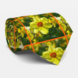 Yellow orange Daffodils 02.2o Tie