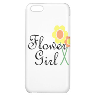 Yellow Orange Daisy Flower Girl Case For iPhone 5C