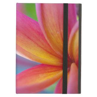 Yellow Orange Deep Pink Tropical Plumeria Flower iPad Air Cover