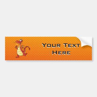 Yellow Orange Dragon Bumper Sticker