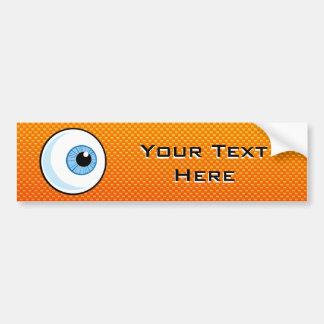Yellow Orange Eyeball Bumper Sticker