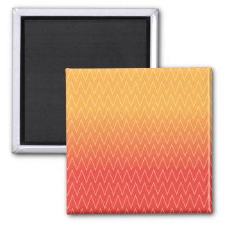Yellow Orange Faded Gradient Chevron Pattern Refrigerator Magnets