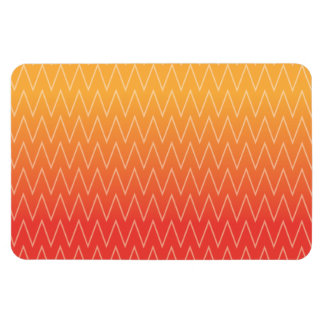 Yellow Orange Faded Gradient Chevron Pattern Vinyl Magnets
