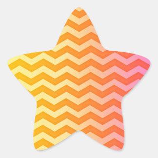 Yellow Orange Faded Gradient Chevron Pattern Stickers