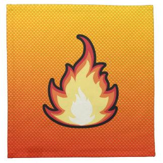 Yellow Orange Fire Flame Napkin