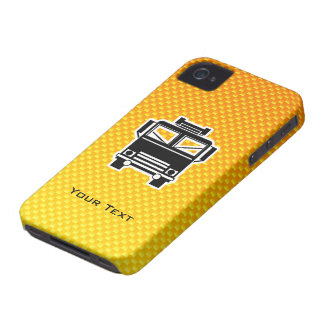 Yellow Orange Fire Truck iPhone 4 Case