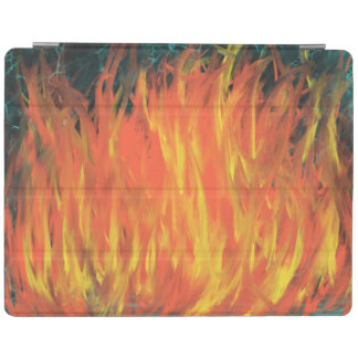 Yellow Orange Flames Lightning Abstract Art Design iPad Cover