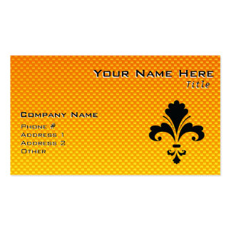 Yellow Orange Fleur de lis Double-Sided Standard Business Cards (Pack Of 100)
