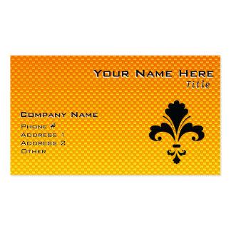 Yellow Orange Fleur de lis Pack Of Standard Business Cards