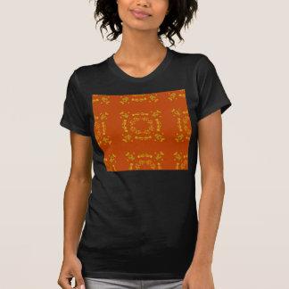 Yellow, Orange Floral Damasks Retro Pattern T-Shirt