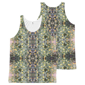 Yellow Orange Flower Dapple Fractal 2 Tank Top