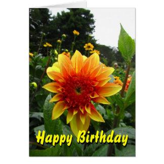 Yellow Orange Flower Greeting Card