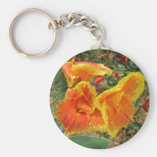 Yellow Orange Flower Keychain