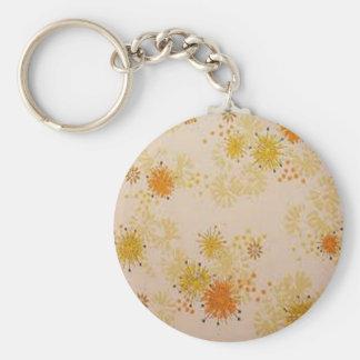 yellow-orange flowers key chains