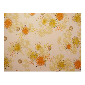 yellow-orange flowers postcard