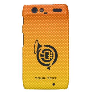 Yellow Orange French Horn Droid RAZR Cover