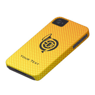 Yellow Orange French Horn iPhone 4 Cover