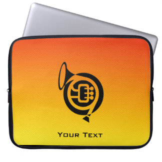 Yellow Orange French Horn Laptop Computer Sleeve