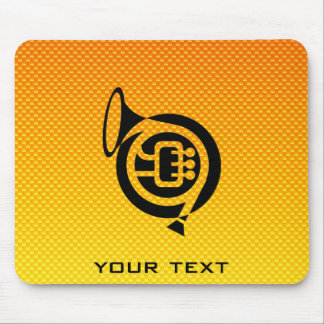 Yellow Orange French Horn Mousepad