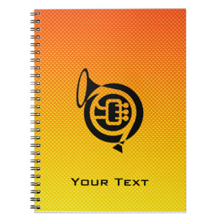 Yellow Orange French Horn Note Book