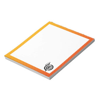 Yellow Orange French Horn Note Pads