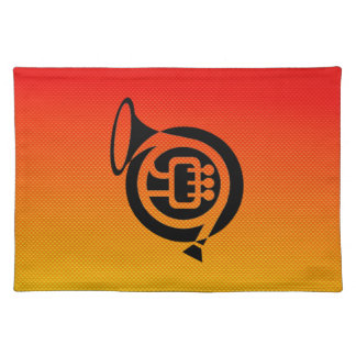 Yellow Orange French Horn Placemats