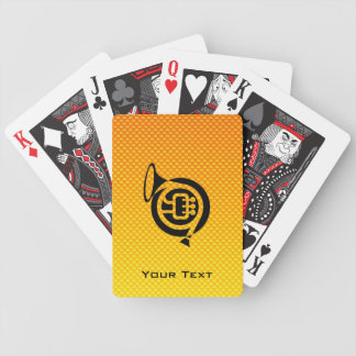 Yellow Orange French Horn Poker Cards