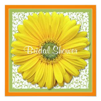 Yellow Orange Green Daisy Bridal Shower Invitation